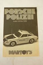 ADVERTISING PUBBLICITA' PORSCHE POLIZEI scala1:24 MARTOYS  - 1975