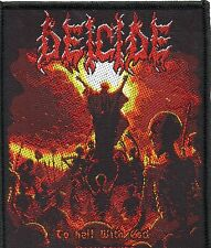 DEICIDE-To Hell With God-Woven-Official Sew-on Patch-Brand New