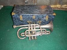 Vintage Cornet Trumpet Henri Lemone Need work/ Repair Paris