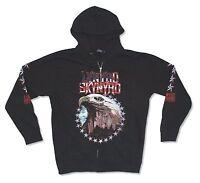 Lynyrd Skynyrd Eagle Black Zip Up Hoodie Sweatshirt New Official