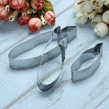 3pcs/set Feather Cookie Cutter Cupcake Mold DIY  Fondant Cake Tools #Cu3