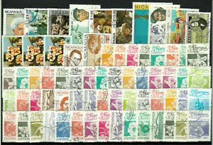 NICARAGUA varied group 68 stamps o from upgiven collections