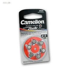 Pack of 6 Hearing Aid Battery A13, Batteries Camelion