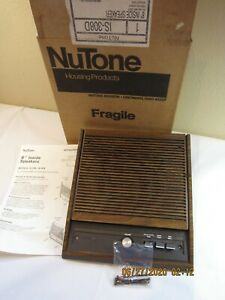"""Nutone IS-308D 8"""" Inside Speaker With Controls Walnut for IM-3003 System"""