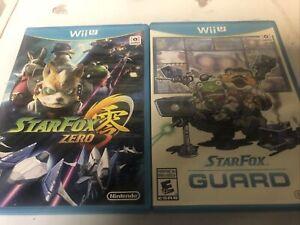 Star Fox Zero + Star Fox Guard Wii U Lot Bundle Ships Fast!