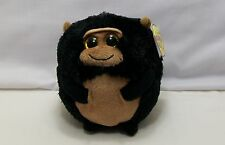 Ty The Beanie Ballz Collection  - Tank - Monkey Black & Tan *New