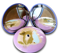 Guinea Pig Face Compact Mirror in Many Colors Guinea Pig Gifts PINK Color