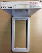 Siedle Kombi-Rahmen KR 512-0 W weiß 2- fach KR512 Kombirahmen,NEU,OVP