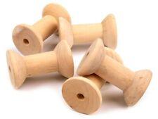 10 Stück Garnspule Holzspule Dekospule Spule Holz Rundspulen 3,5 X 6 cm