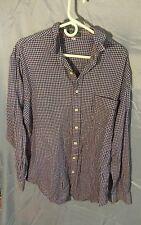 Vintage Giordano Plaid Button Front Shirt Men's sz XL 100% Cotton