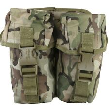 DOUBLE MAGAZINE AMMO POUCH BTP WEBBING MOLLE PAINTBALLING BRITISH ARMY CADET