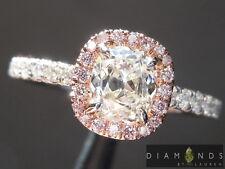 .74ct H SI1 Old Mine Brilliant Diamond Halo Ring GIA R6655 Diamonds by Lauren
