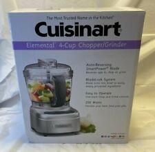 Cuisinart Elemental 4-Cup Chopper Grinder Food Processor ECH-4SV Silver Food New