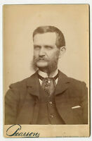 Cabinet Photo - Close Up-Man Long Sideburns, Moustache, E Des Moines, Iowa