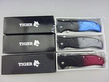 """3 Pack: Tiger PSA0006 Spring Assist 3"""" Stainless Steel Blade Pocket Knife"""