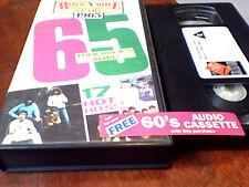 THE ANIMALS BEACH BOYS KINKS WHO BYRDS THEM 1965 UK PAL VHS Video 1988 No DVD