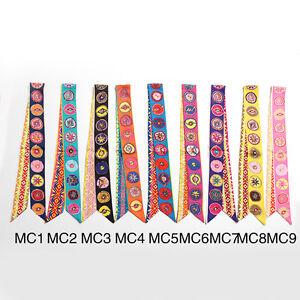 AMIGO Twilly Multi-Use Mini Scarf Wrist Head Band Bag Ribbon Bow Tie Wrap JJMC