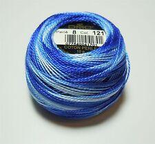 DMC Pearl Cotton Ball (10 gram) Size 8 Color #121 Variegated Delft Blue