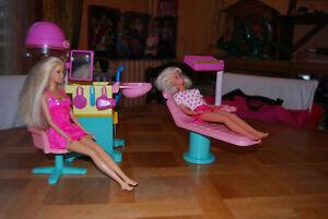 lot barbie au salon de coiffure
