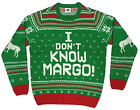 Christmas Vacation I Dont Know Margo! Ugly Christmas Sweater Mens Size 3XL New