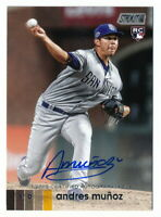 ANDRES MUNOZ RC 2020 TOPPS STADIUM CLUB AUTO SAN DIEGO PADRES ROOKIE