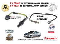 FOR HONDA CIVIC 1.3 IMA HYBRID 2003-2006 FRONT + REAR 02 OXYGEN 2 LAMBDA SENSOR