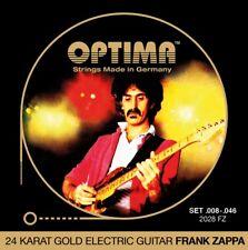 OPTIMA 24K GOLD FRANK ZAPPA .008 046 guitarras-e Cuerdas KIT guitarra eléctrica