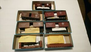 Athearn HO Train Lot of 7 Southern Ry Rolling Stock Freight Cars 7 Kits 1 Built