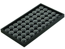 50 Jar Black Foam Insert Coin & Jewelry Display Tray Holder