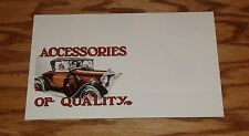 1930 1931 Ford Car Model A Accessories Foldout Sales Brochure 30 31