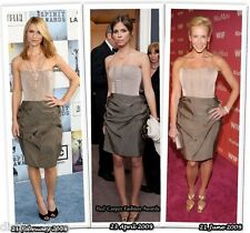 SoldOut 2009 CHIC RARE LANVIN 2 tone-TAUPE and BONE BUSTIER Silk Cocktail  Dress