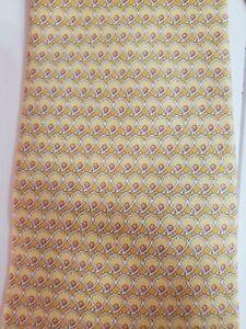 Salvatore Ferragamo Yellow/ Gold Silk Tie Oyster/ fan print