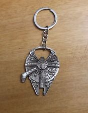 Star Wars Millennium Falcon Metal Bottle Opener & Keychain - NEW
