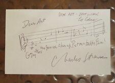 Charles Strouse & Lee Adams signed autographed index card Bye Bye Birdie