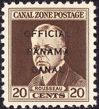 Canal Zone - 1941 - 20 Cents Brown Official Issue # O6 Mint LH VF-XF  Nice Stamp