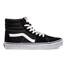 11c65e01536cd9 Vans Authentic Sk8 Hi Suede Black White Classic Era Old Skool Mens + Womens