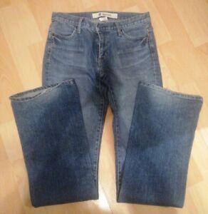Ladies Gap Distressed Blue Boot Cut Jeans Size 8 Long
