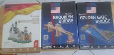 Puzzle 3D Cubicfan BROOKLYN BRIDGE, GOLDEN GATE BRIDGE, NEUSCHWANSTEIN CASTLE