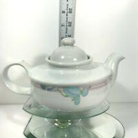 Vintage Japan Tea Pot Old Style w/Lid Hand Painted Floral Coffee & Tea X'Rare C2