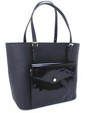 Michael Kors Jet Set Large Front Pocket MF Tote Leather (Black) New With Tag$268