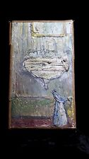 French Oil Painting , Circa 1980 , Interior Still Life with Basin