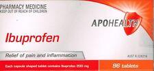 =>PRICE SMASH APOHEALTH IBUPROFEN 200 MG 96 TABLETS SAME AS NUROFEN