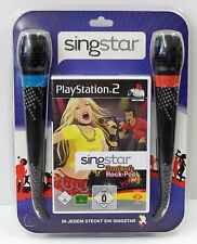 PS2 Playstation 2 - Singstar Deutsch Rock-Pop Vol.2 + Micros - Set - NEU NEW OVP