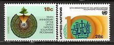 UN / New York office - 1981 10 years volunteer programme - Mi. 389-90 MNH