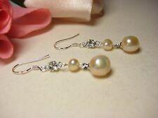 Ohrring echte Süßwasserperlen 925 Silber Barock Perlen Schmuck rosa