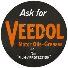 ASK FOR VEEDOL MOTOR OILS-GREASES ADVERTISING METAL SIGN