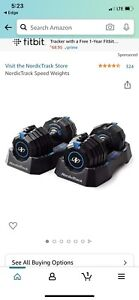 NordicTrack 55lb Adjustable Dumbbell Set Pair Select A Weight 110lb Total