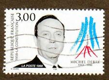 TIMBRE 1998 MICHEL DEBRÉ OBLITÉRÉ