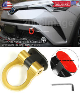 Gold Plastic Tape on Adjustable Decoration Tow Hook Ring For VW Porsche Audi
