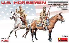 Miniart 1/35 SCALE MODEL FIGURES KIT  U.S. Horsemen (Normandy 1944) MIN35151